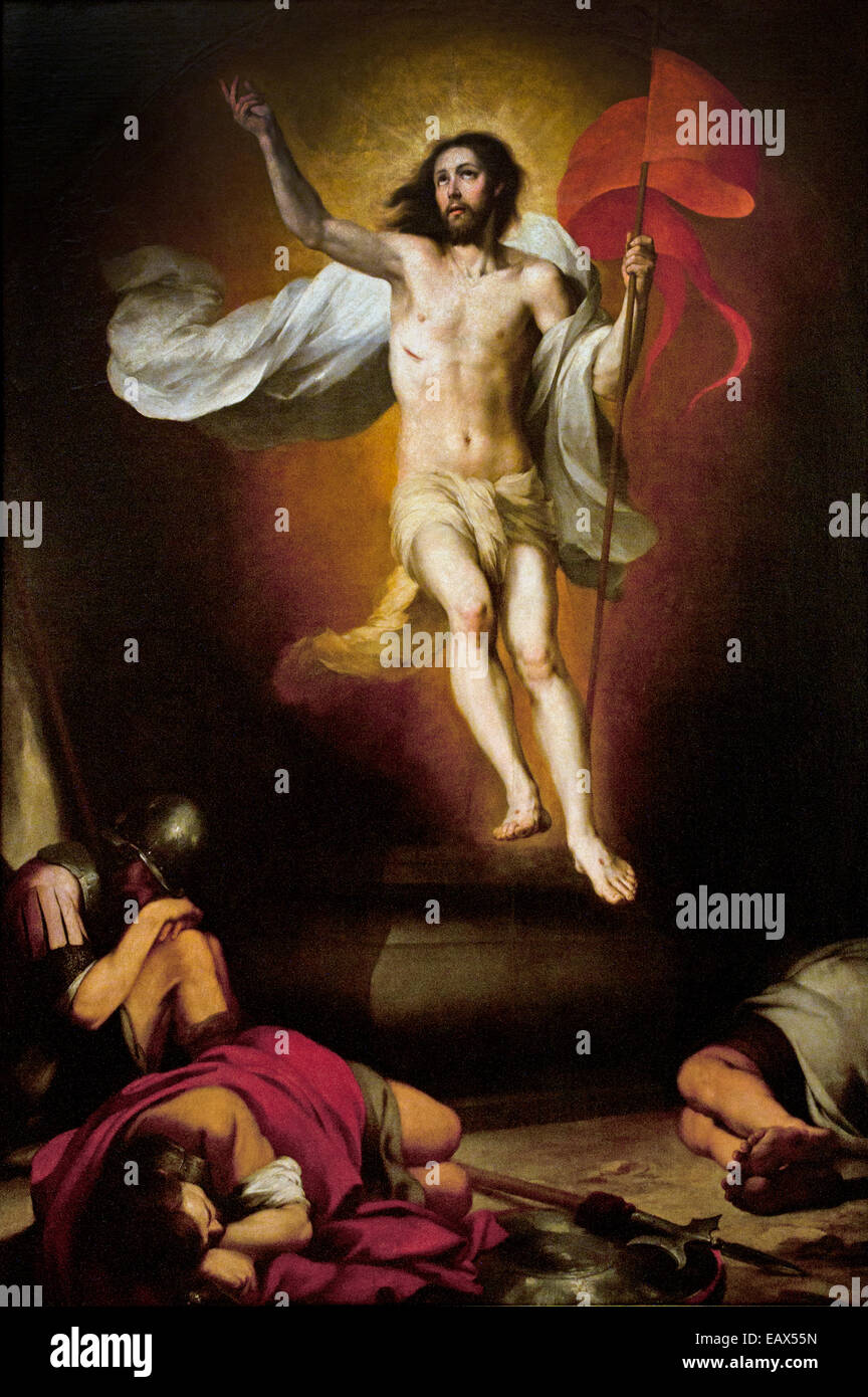 Resurrection of the Lord by Bartolomé Esteban Murillo 1617- 1682 Spain Spanish - Stock Image