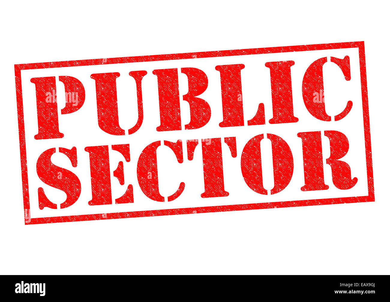 PUBLIC SECTOR red Rubber Stamp over a white background. Stock Photo