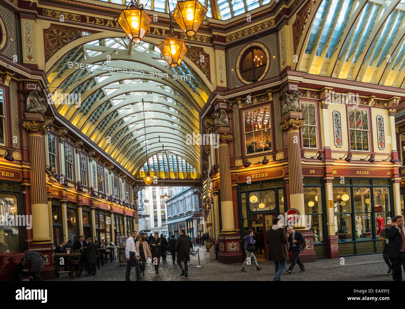 Leadenhall Market in the City of London - Stock Image