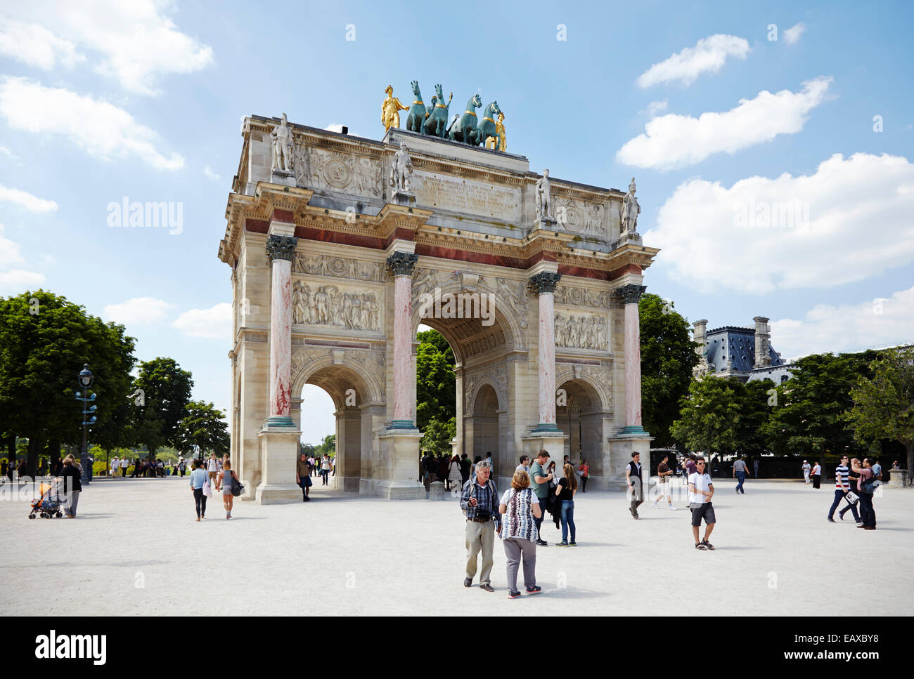 Art de Triomphe du Carrousel - Stock Image