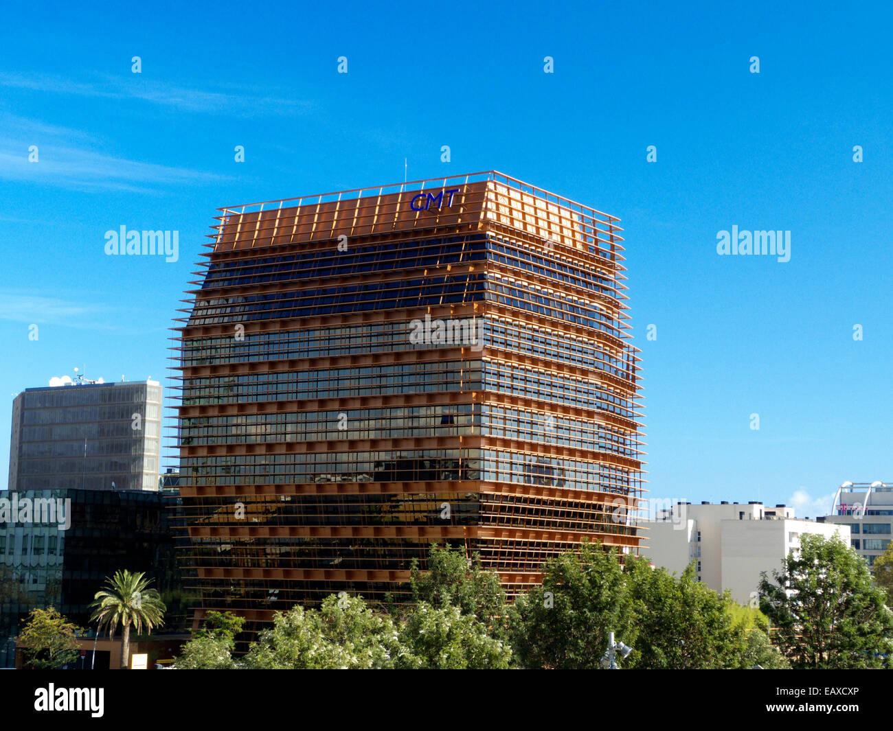 Barcelona Placa de les Glories modern sustainable building Spain Catalonia - Stock Image