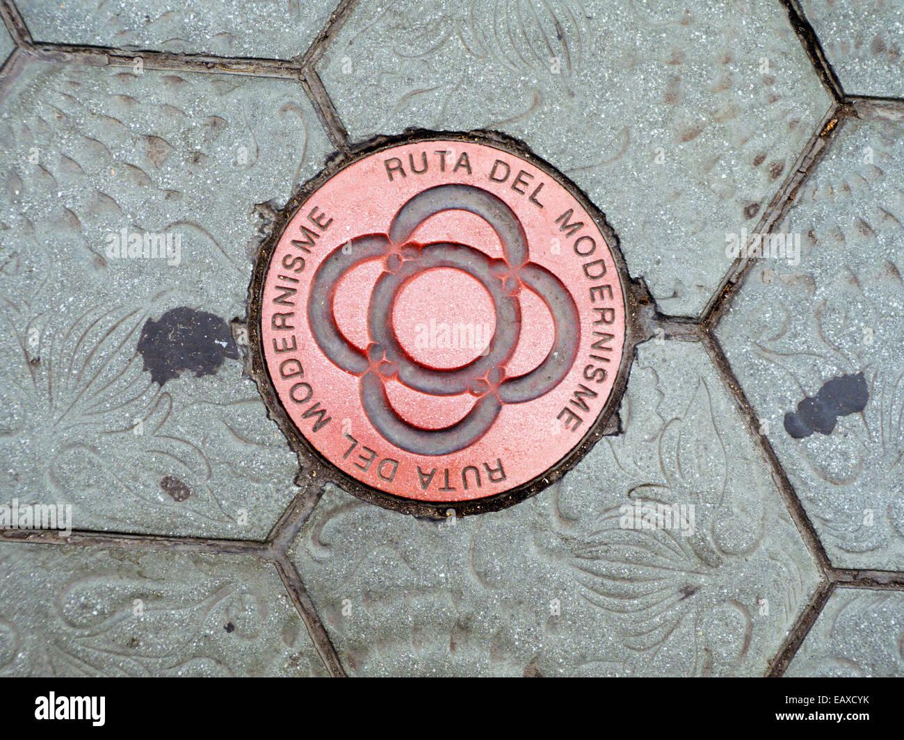 Spain Catalonia Barcelona Ruta Del Modernisme Modernisme route of Barcelona - Stock Image