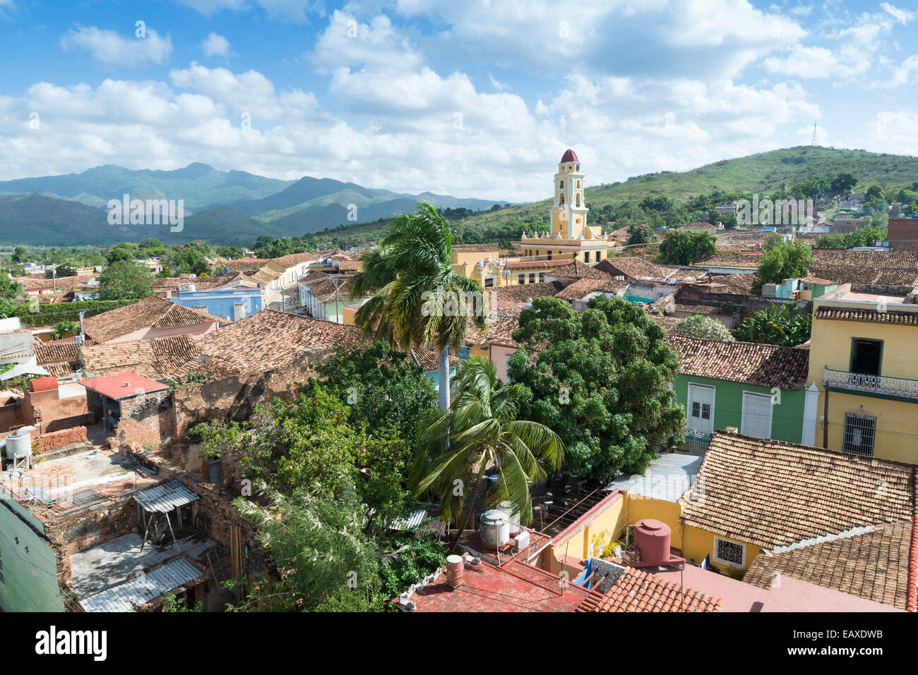 TRINIDAD, CUBA - MAY 8, 2014: Old town of Trinidad, Cuba. Trinidad is a historical town listed by UNESCO as World - Stock Image