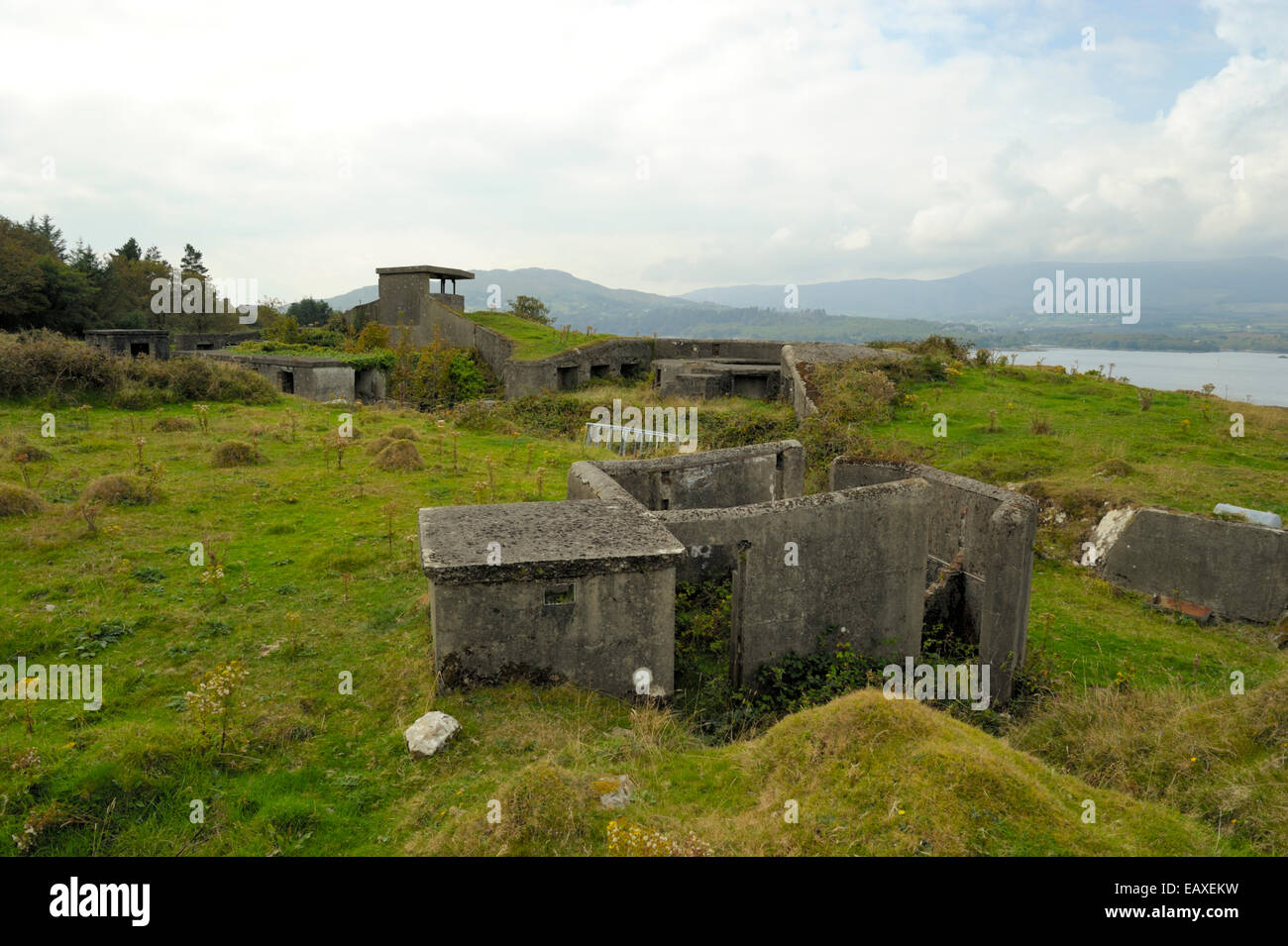 Old Fortifications on Bere Island - Stock Image