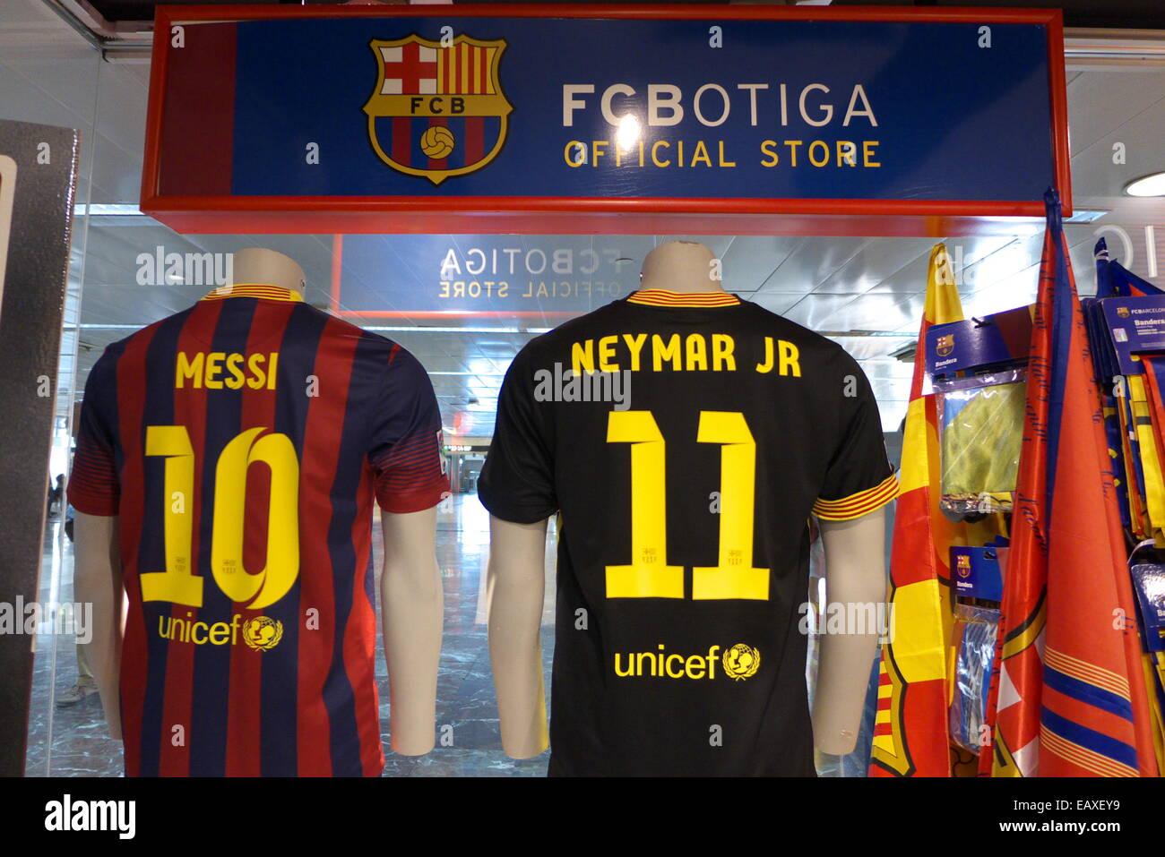 Spain Catalonia Barcelona FC Barcelona Fan club souvenirs shop Stock ... 9a318010cc8