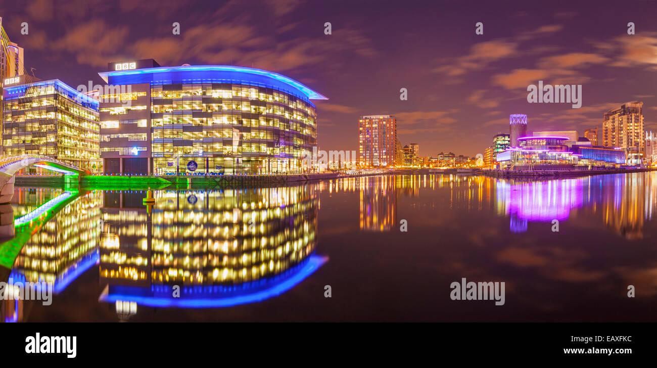 Media City UK Salford Quays Greater Manchester England UK GB EU Europe - Stock Image