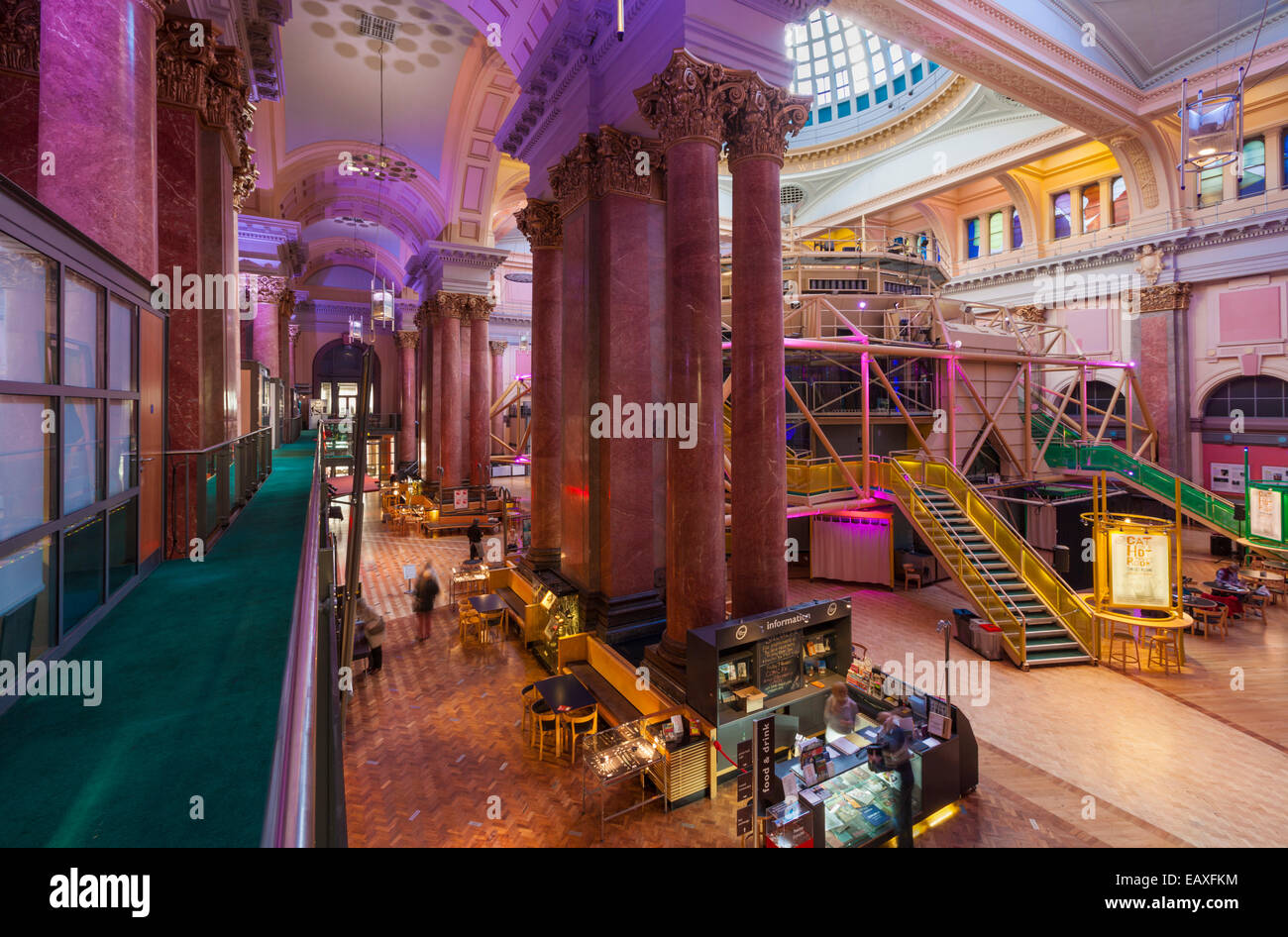 The Royal Exchange Theatre Interior St Anns Square Manchester city centre Greater Manchester England UK GB EU Europe Stock Photo