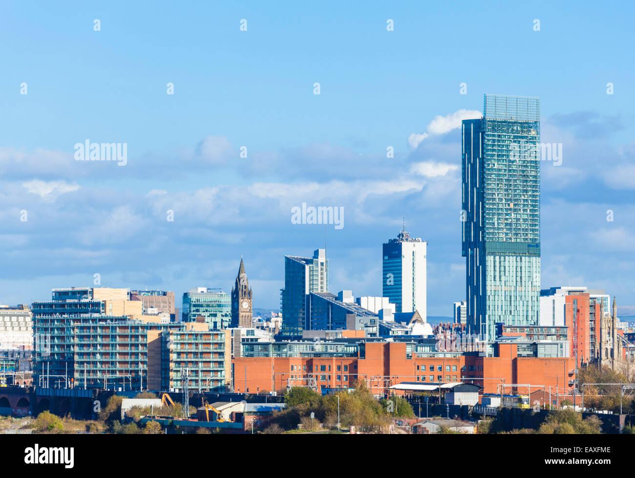 Beetham Tower and Manchester Skyline Manchester England UK GB EU Europe - Stock Image