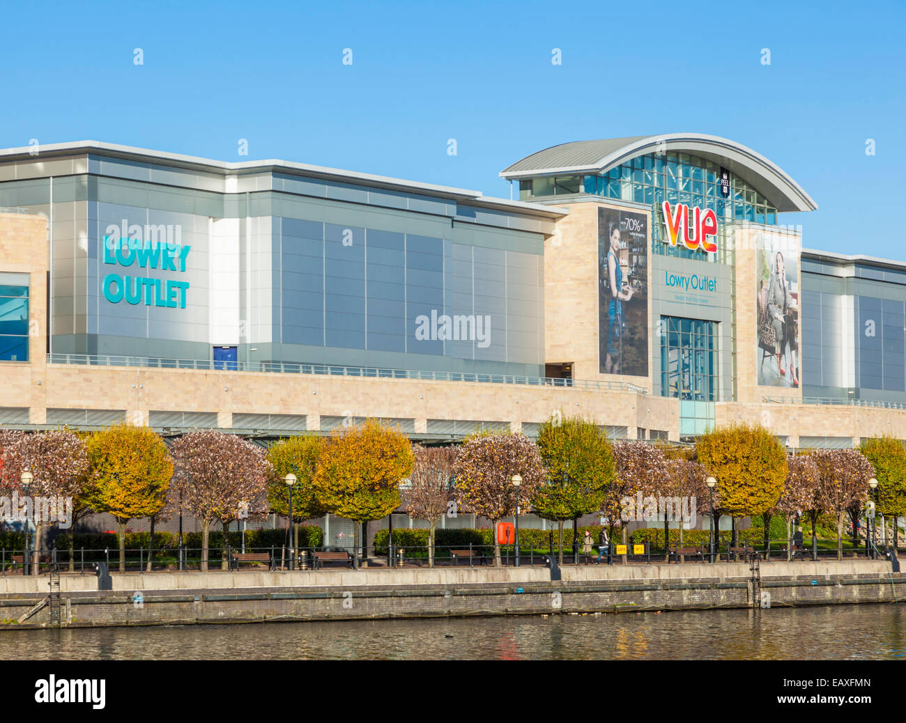 Lowry Outlet Mall Media City UK Salford Quays Salford Manchester England UK GB EU Europe - Stock Image
