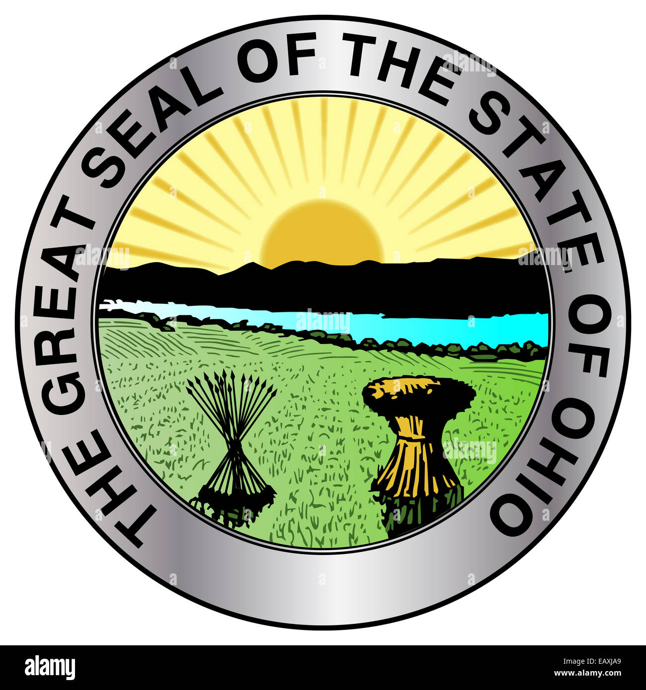 The great seal of the state of Ohio - Stock Image
