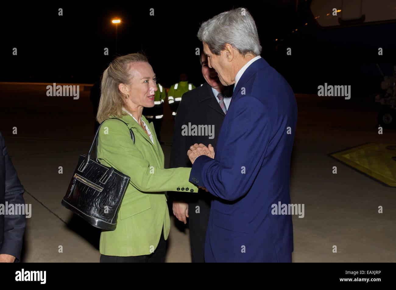 U S  Ambassador to Jordan Alice Wells welcomes U S