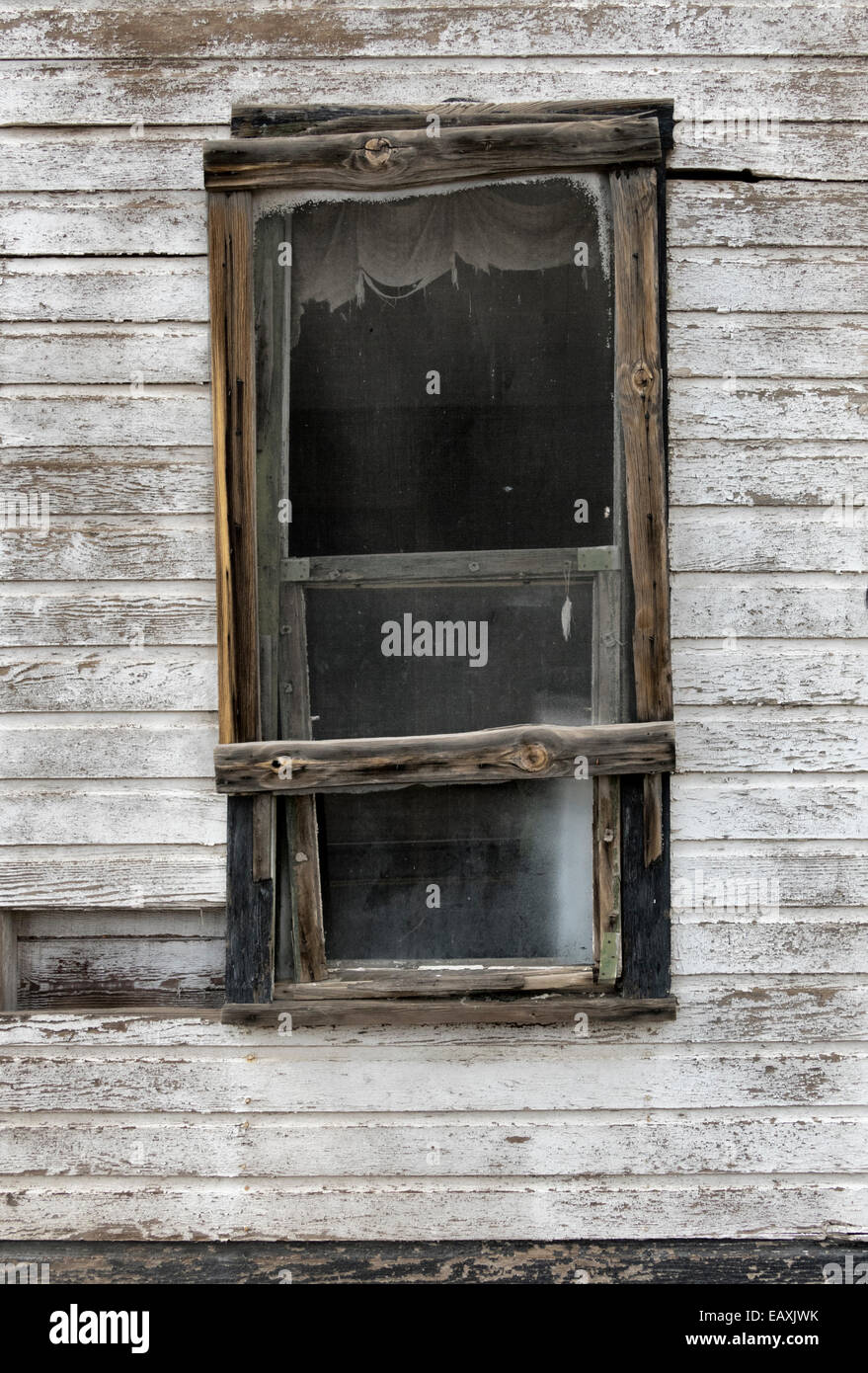 Andrew Wythe,fine art style image of a  1930's exterior window. - Stock Image