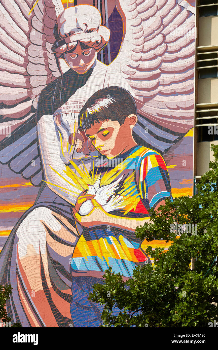 Spirit of Healing Mural at Christus Santa Rosa Children's Hospital, San Antonio, Texas USA - Stock Image