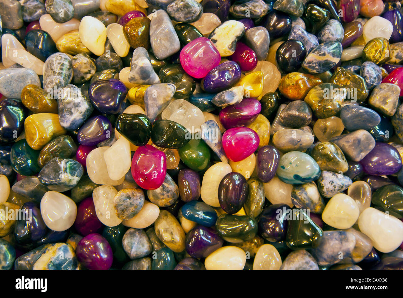 Colorful gem stones - Stock Image