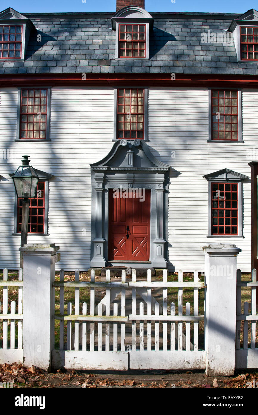 Deerfield, Massachusetts, Dwight House, built 1700s, Apprentice workshop, Historic Deerfield. USA - Stock Image