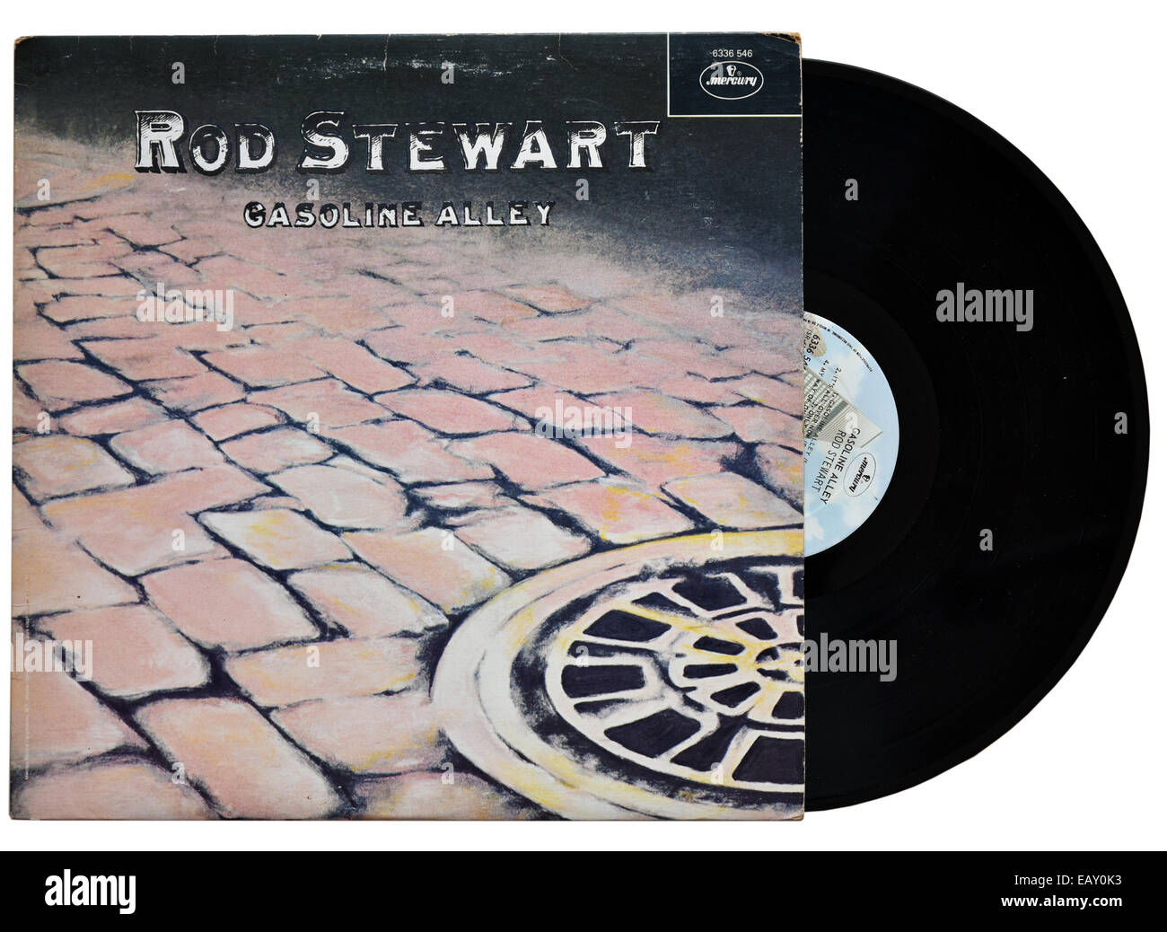 Rod Stewart Gasoline Alley album - Stock Image