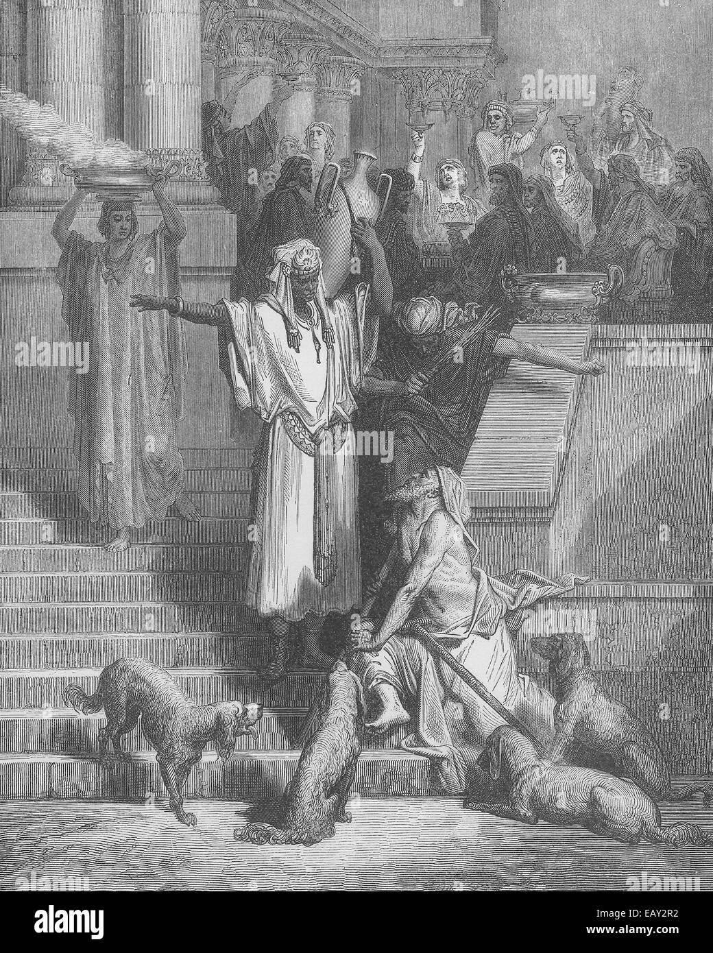 Lazarus and the Rich Man, New Testament Parable - Stock Image