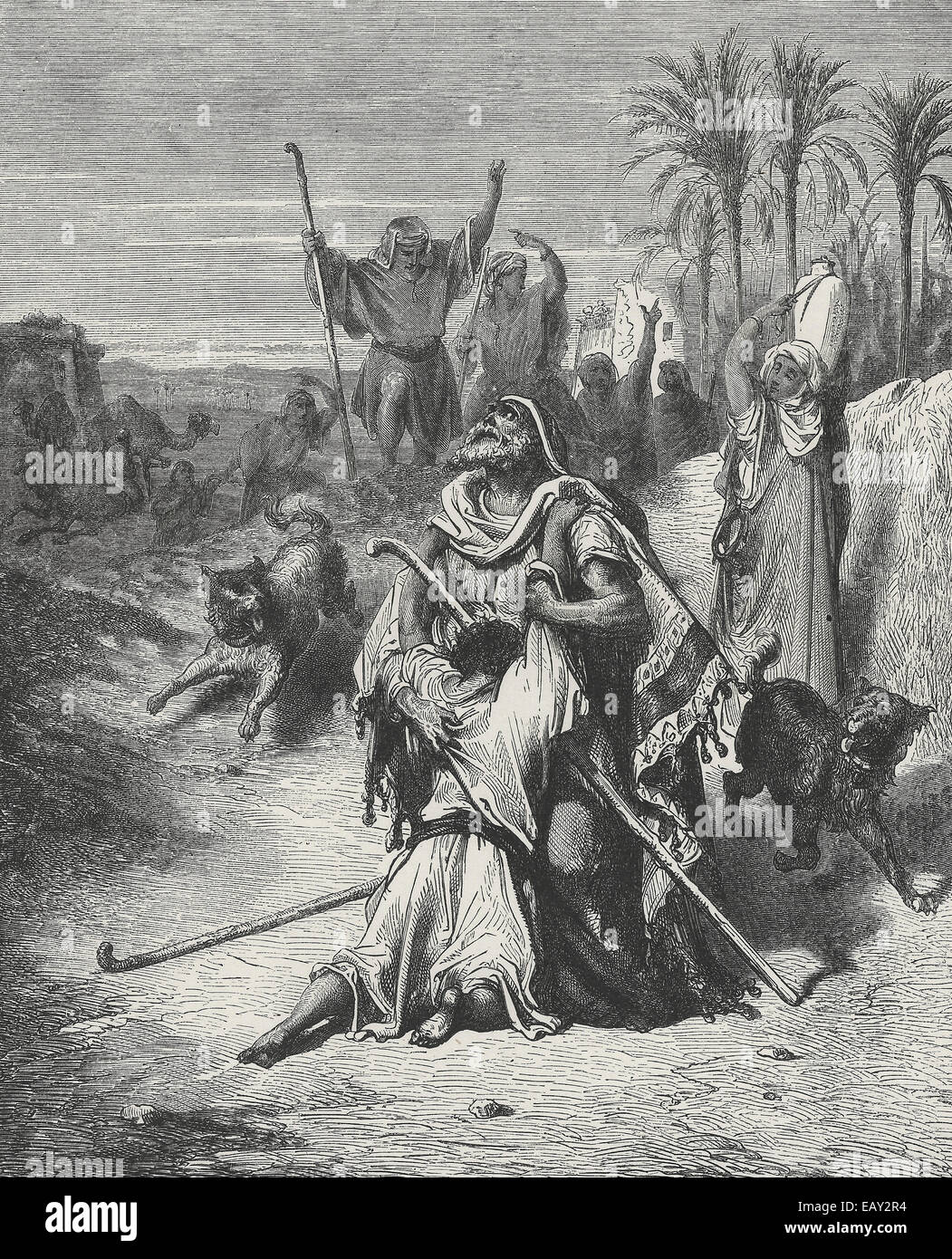 The Prodigal Son - New Testament Parable - Stock Image