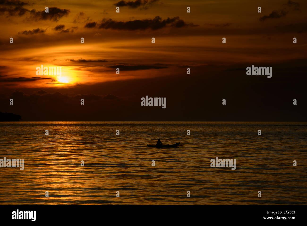 Sunset, Sulawesi, indonesia Stock Photo