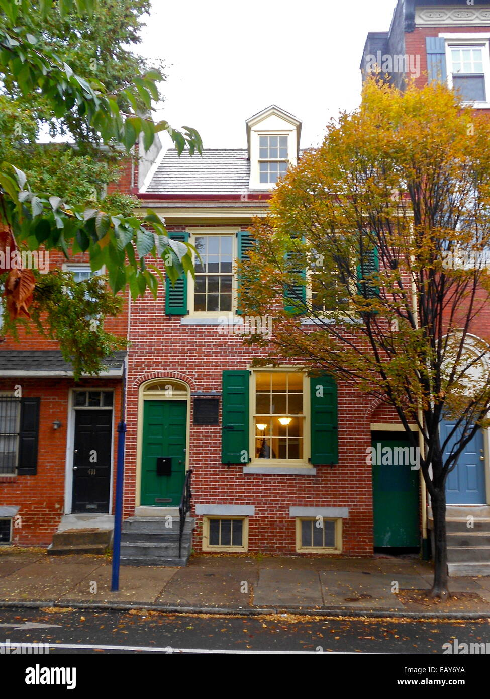 Henry George birthplace, 413 S. 10th Street in Philadelphia Stock Photo