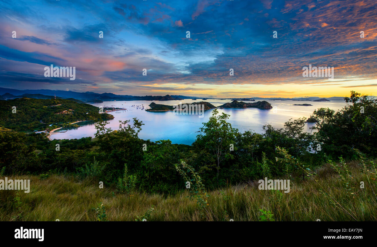 Bays and islands in Labuan Bajo, Flores, Indonesia - Stock Image
