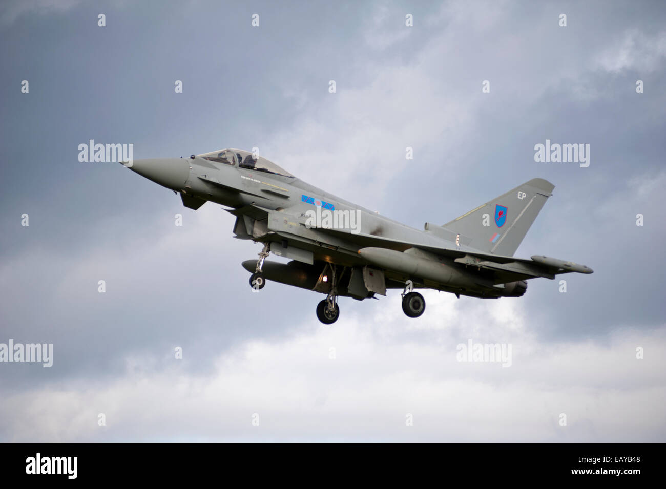 Eurofighter Typhoon FRG4 Military Fast Jet Fighter - Stock Image