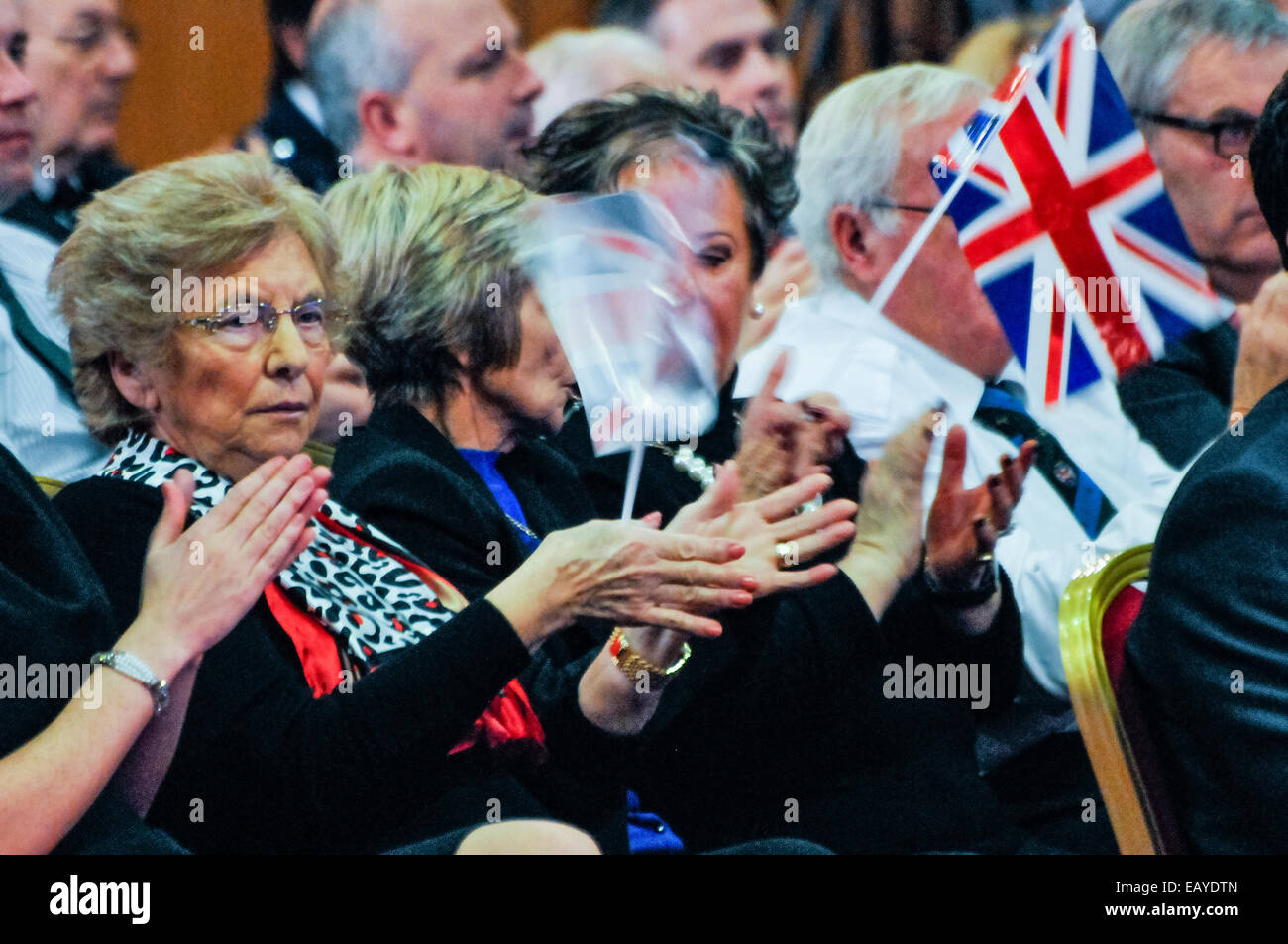 Belfast, Northern Ireland. 22 Nov 2014 - Audience members, made up primarily of party members and indicative of - Stock Image