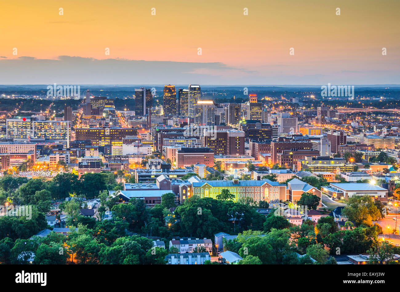 Birmingham, Alabama, USA downtown skyline. - Stock Image