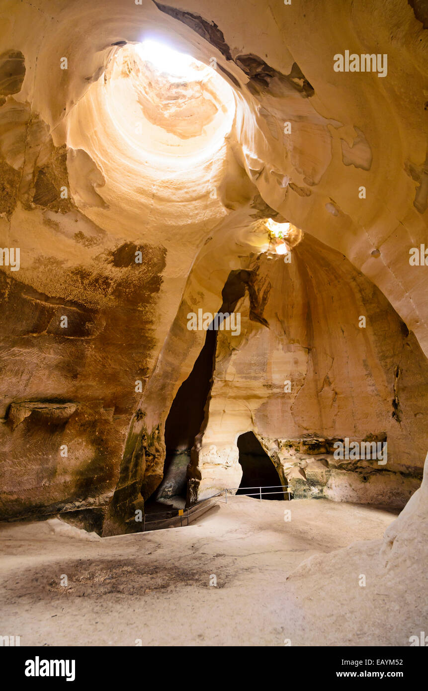 Bell Caves interior at Bet Guvrin, Israel. - Stock Image