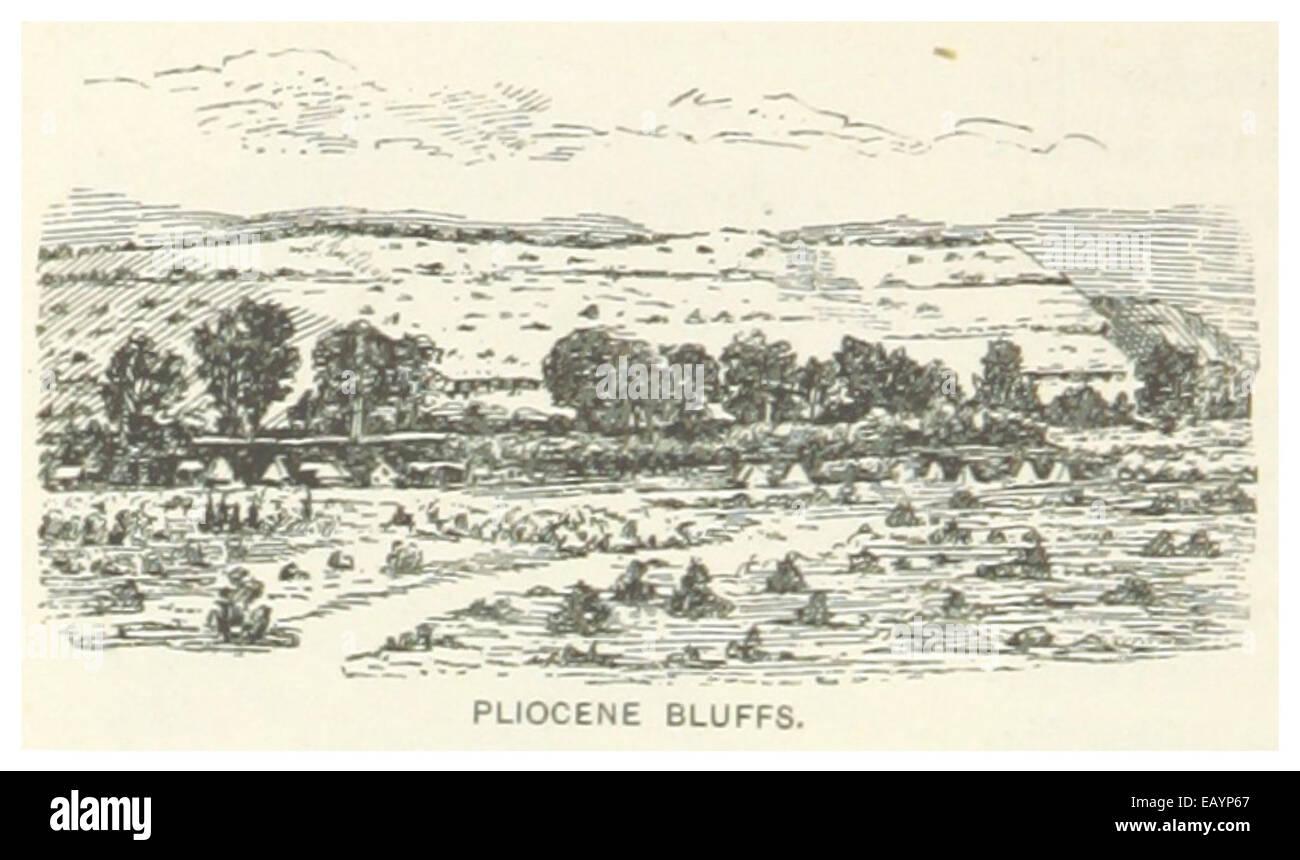 US-NV(1891) p538 PLIOCENE BLUFFS - Stock Image