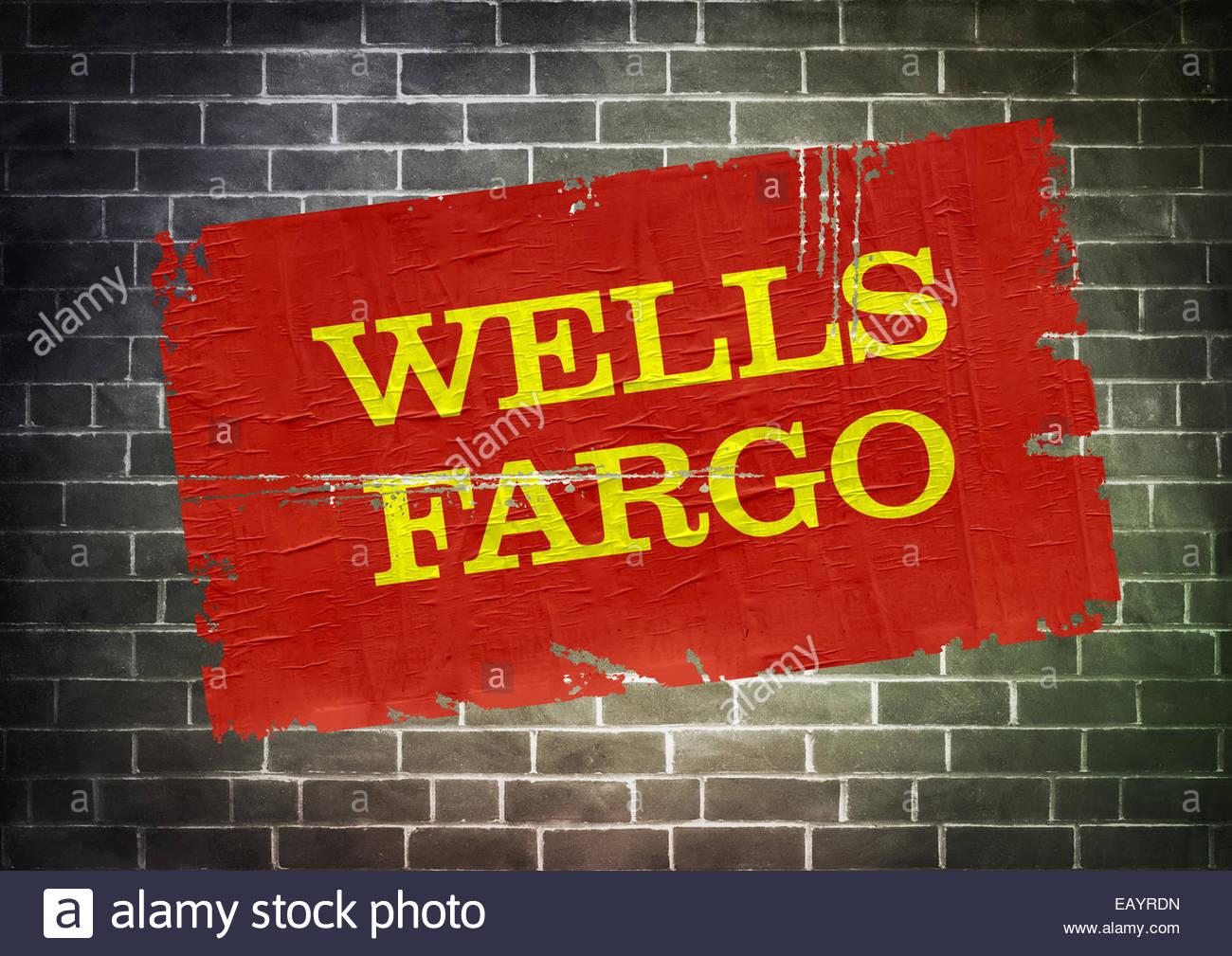Wells Fargo Icon Logo Poster Stock Photo 75599153 Alamy