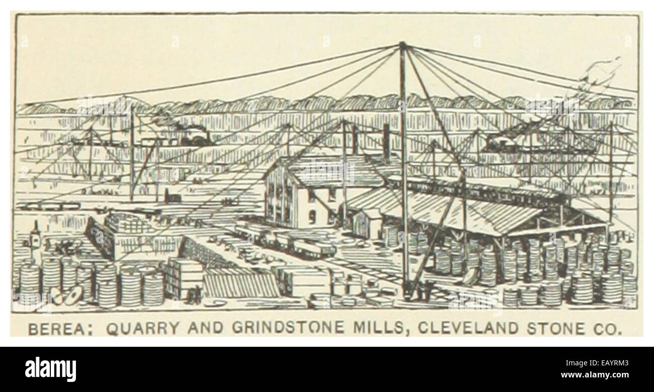 US OH1891 P671 BERERA QUARRY AND GRINDSTONE MILLS CLEVELAND STONE COMPANY