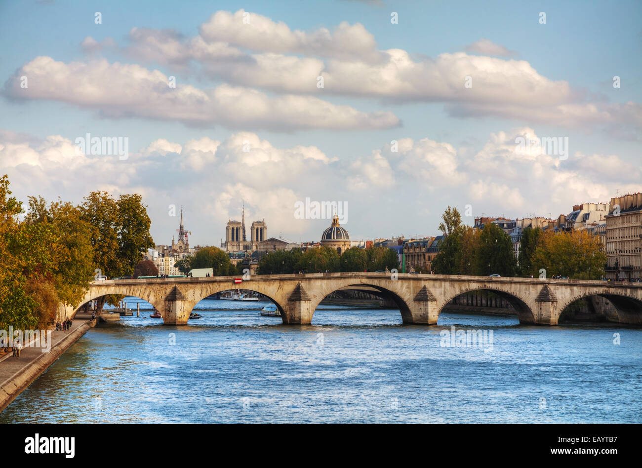 Cityscape of Paris, France on a cloudy day - Stock Image