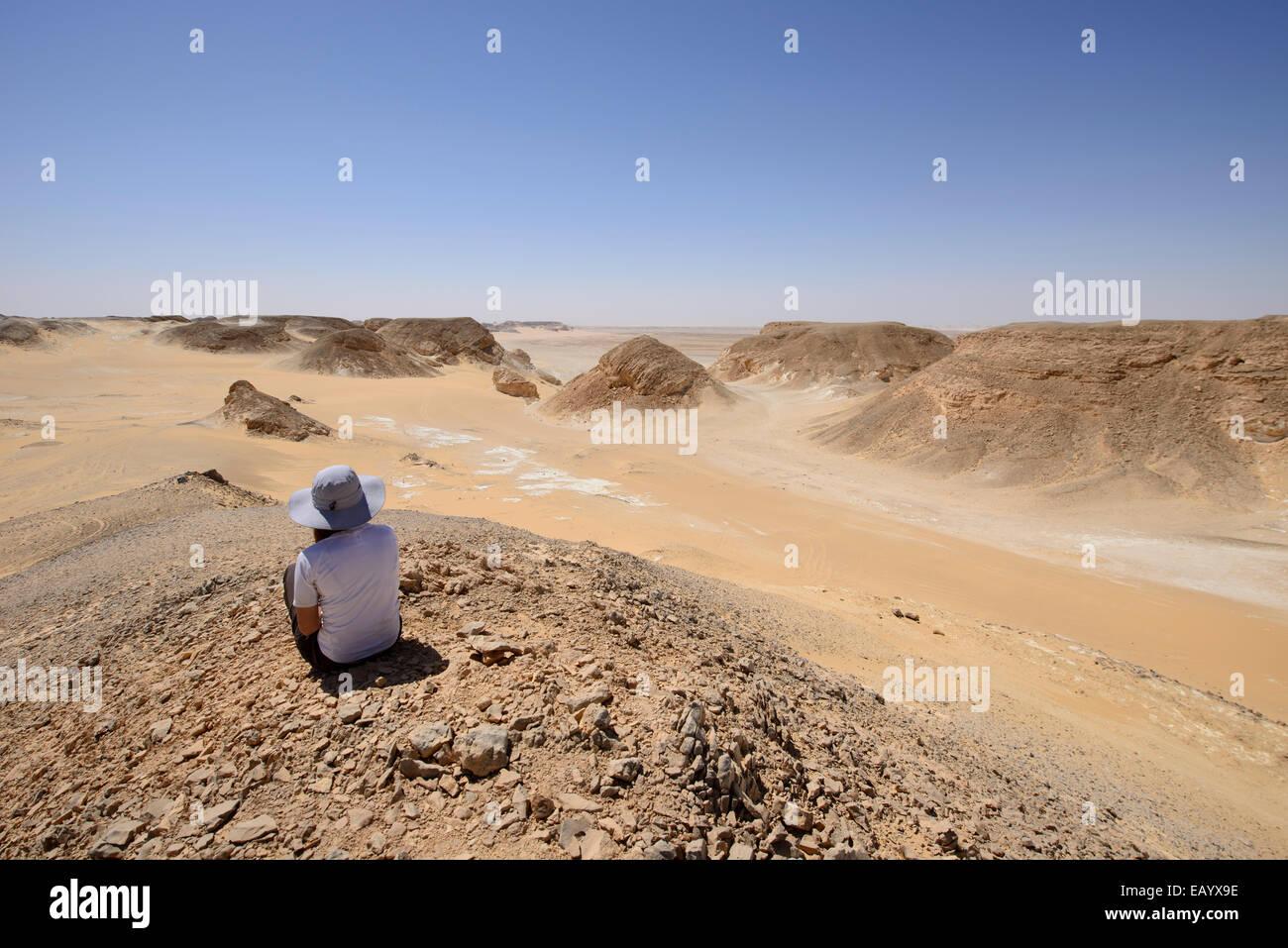 White desert, Sahara, Egypt - Stock Image