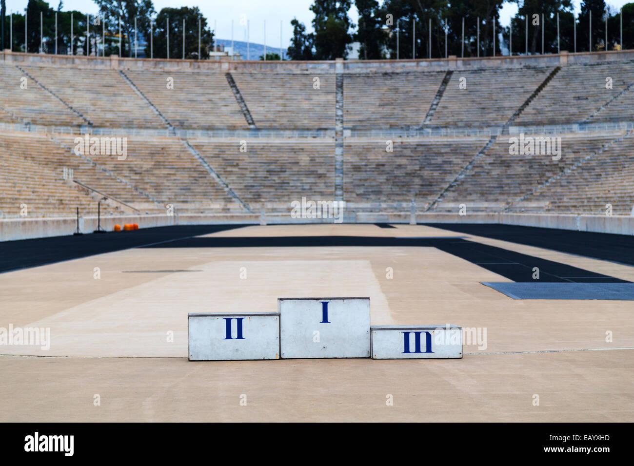 Greece, Athens, the Panathenaic Stadium - built entirely of white marble. - Stock Image