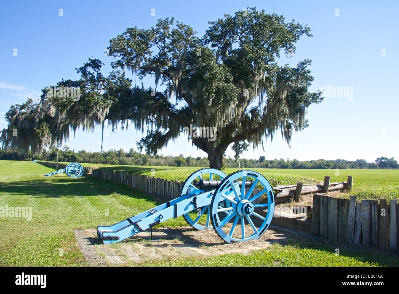 Chalmette National Battlefield, Site of the Battle of New Orleans, 1815. -  Stock