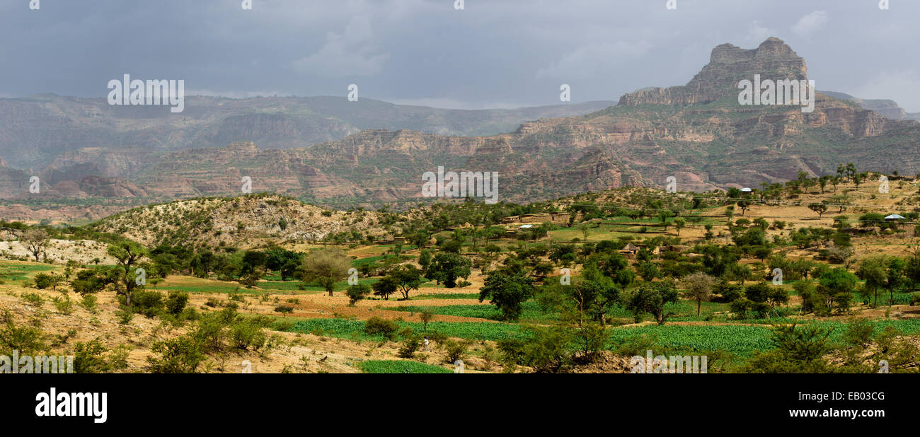 View of the Tigray region, Ethiopia - Stock Image