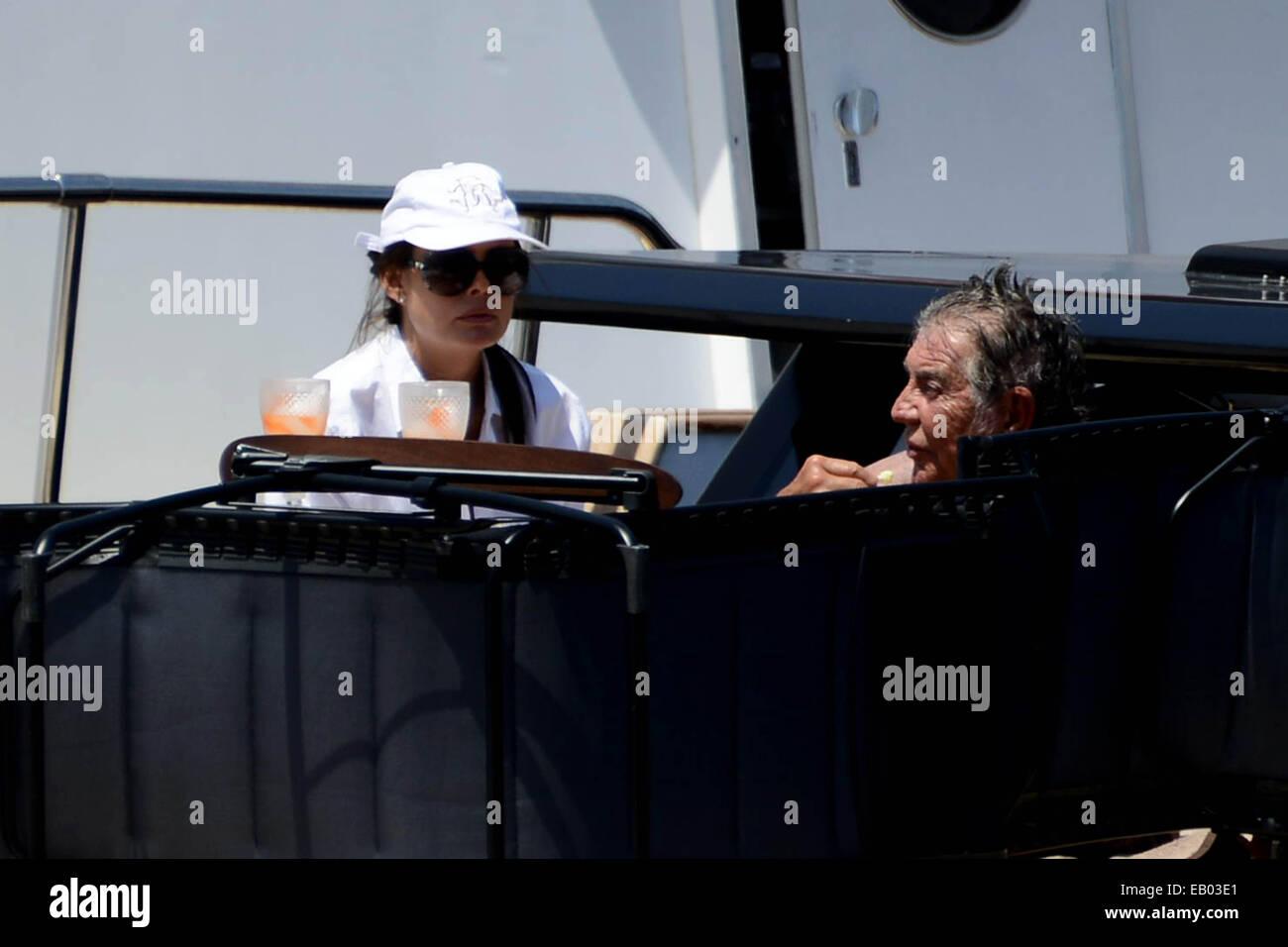 Italian Fashion Designer Roberto Cavalli Sunbathing On His Luxery Stock Photo 75605433 Alamy