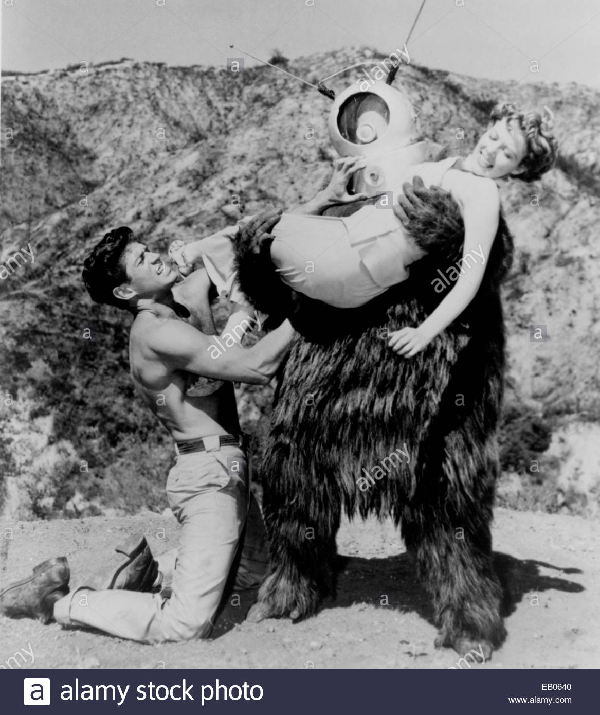 ROBOT MONSTER (1953) - still from low budget 1953 science fiction film. - Stock Image