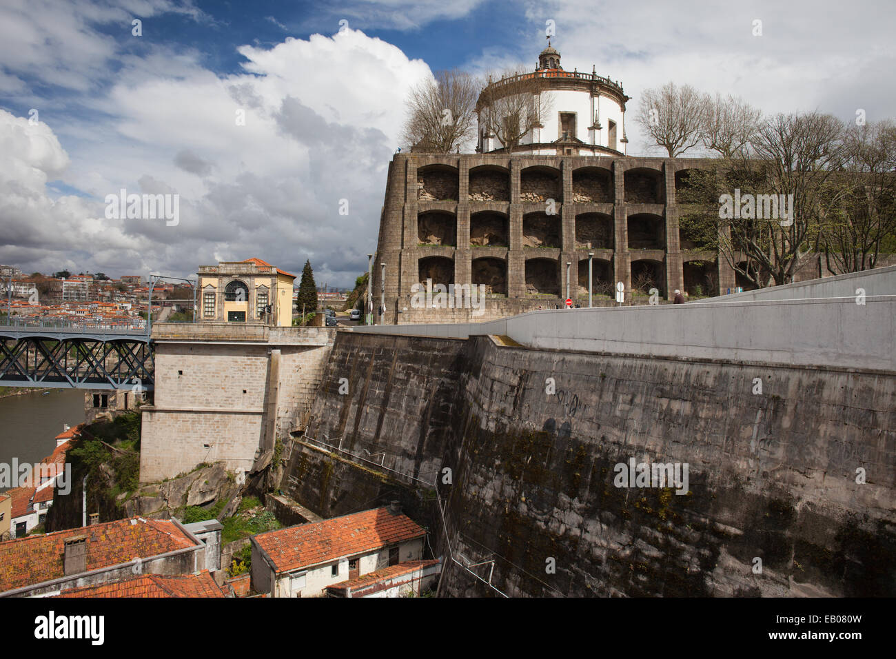 Augustinian monastery of Serra do Pilar on top of a hill in Oporto, Portugal. - Stock Image