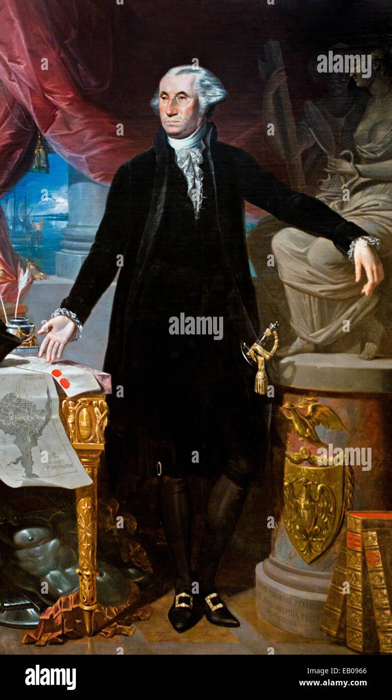 President  George Washington (1732–1799) Giuseppe Perovani 1765 — 1835  Italy Italian - Stock Image
