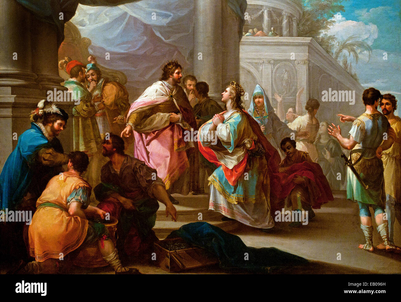 The Empress of Constantinople before King Alphonse X the Wise 1766 Ramón Bayeu (1746 – 1793) Spanish Spain - Stock Image