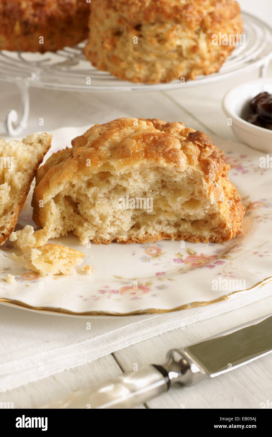 Cheese scones a savoury variety of the more tradtional sweet scone - Stock Image