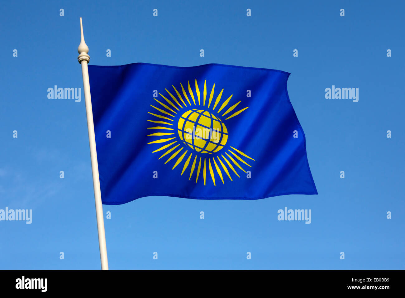Flag of the Commonwealth of Nations - adopted in November 2013. - Stock Image
