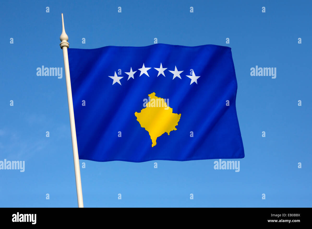 The flag of the Republic of Kosovo - Stock Image