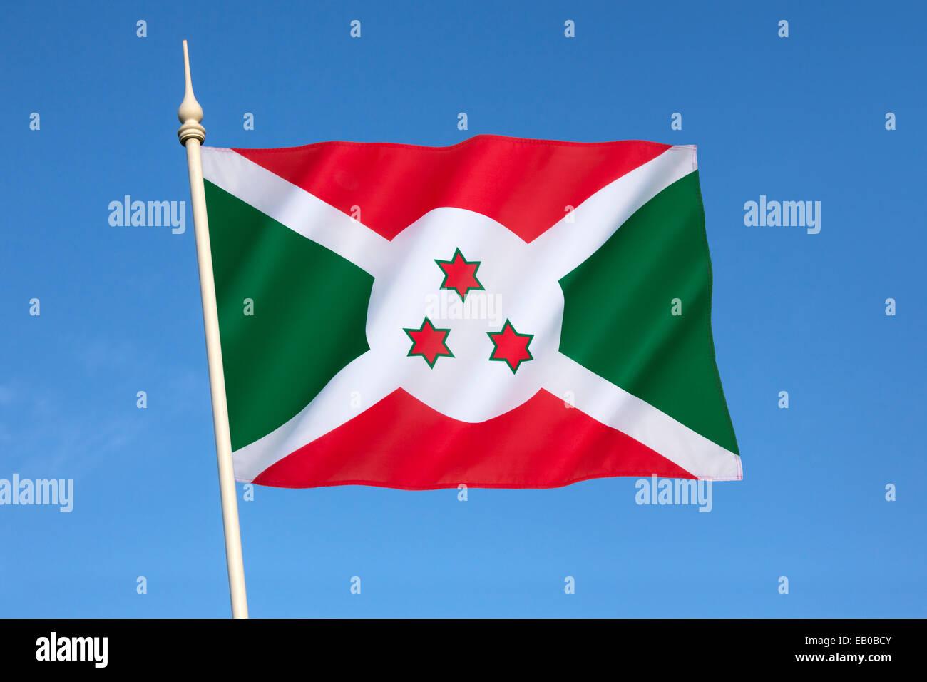 Flag of Burundi - Stock Image