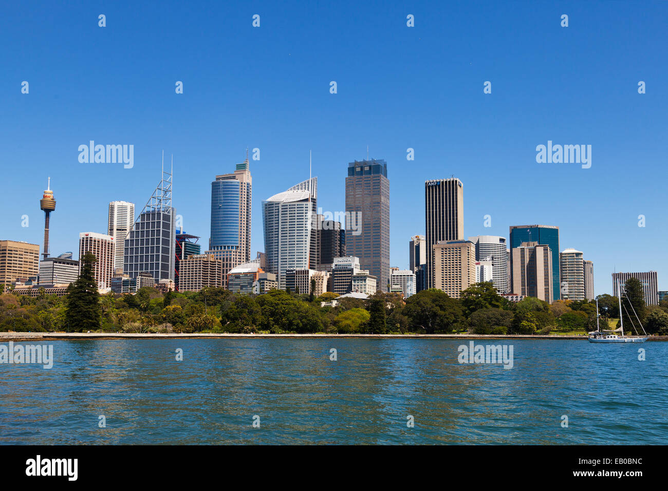 Sydney Harbour Skyscrapers in Central Buisness District NSW Australia - Stock Image