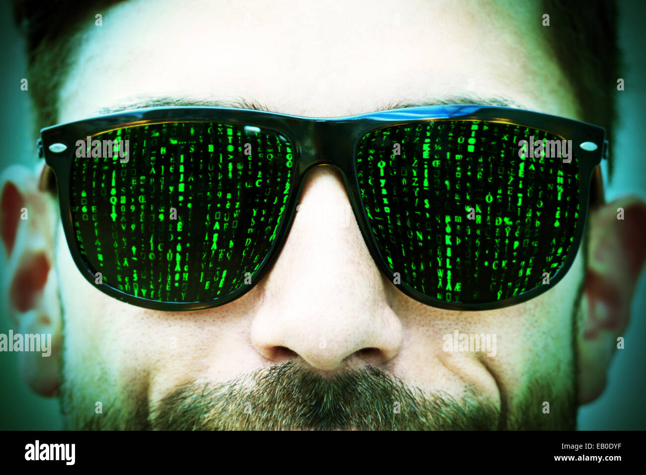 Matrix eyes - Stock Image