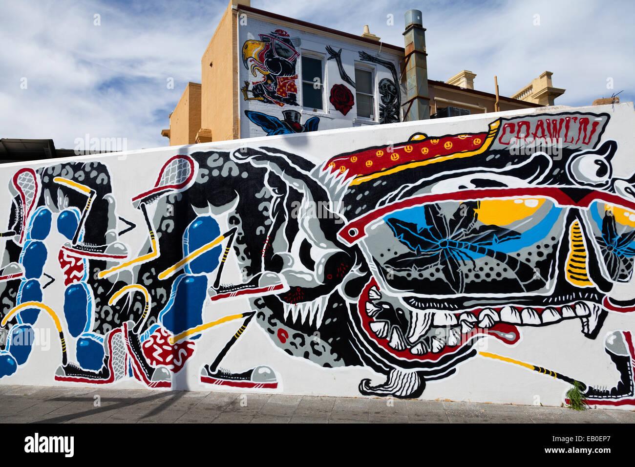 Converse Sneakers Clash Wall Art Freo Fremantle Australia - Stock Image