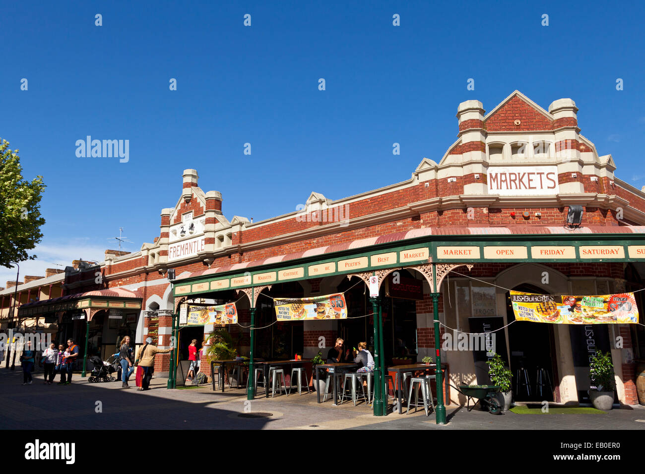 The Market in Fremantle Perth Australia - Stock Image